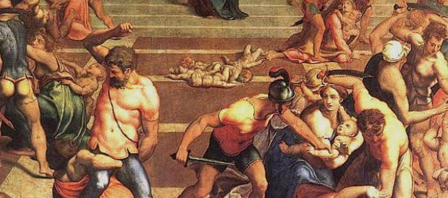 Entonces Herodes, al ver que los Magos le habían engañado, se irritó en...