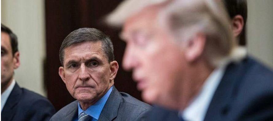 Flynn firmó a principios de diciembre un acuerdo de culpabilidad en el que admitió...