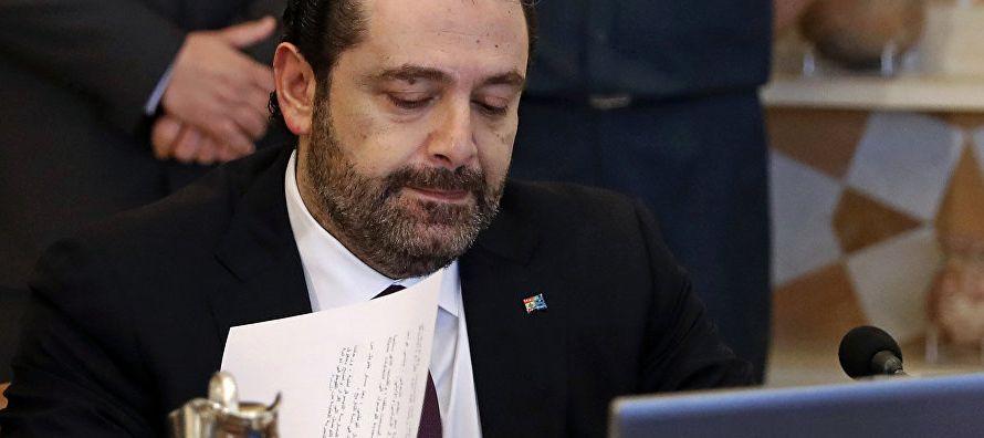 Hariri dimitió el pasado 4 de noviembre cuando se encontraba de viaje en Arabia...