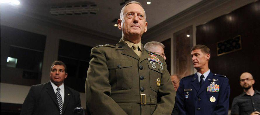 Mattis afirmó, asimismo, que la destrucción del califato conllevará la...