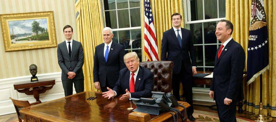 El presidente de Estados Unidos, Donald Trump, encara un 2018 lleno de retos y que se antoja mucho...