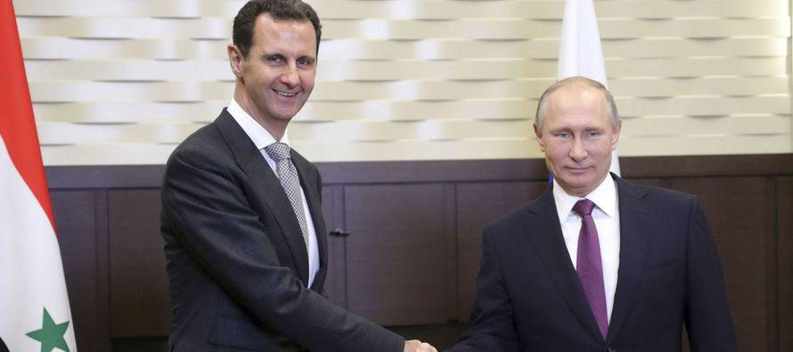 Rusia lanzó ataques aéreos en Siria en septiembre de 2015 en su mayor...