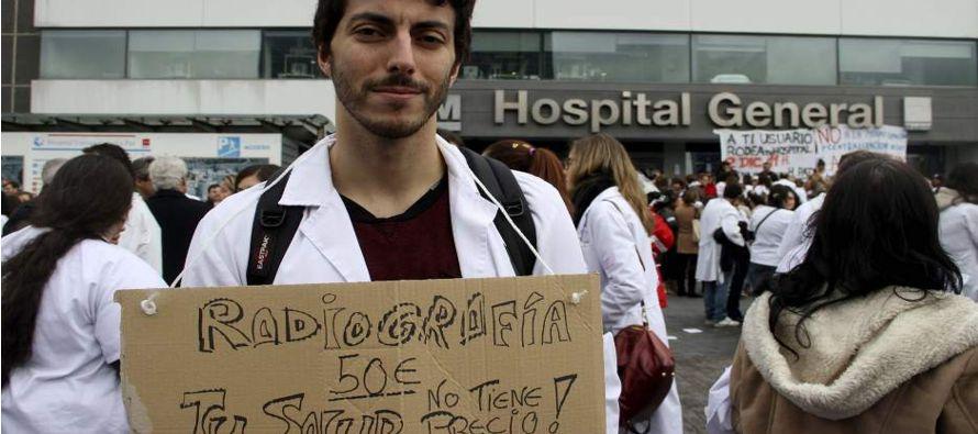 Durante el conflicto médico la sala de emergencias es la que ha tomado mayor notoriedad,...