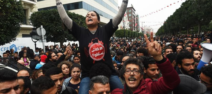 El expresidente tunecino huyó a Arabia Saudí el 14 de enero de 2011, tras un mes de...