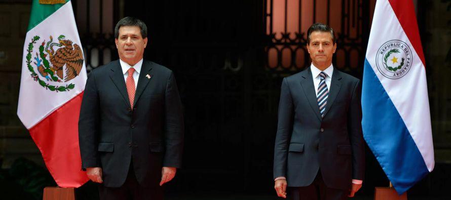 En esta ocasión, Peña Nieto se reunirá con Cartes, con quien hablará...