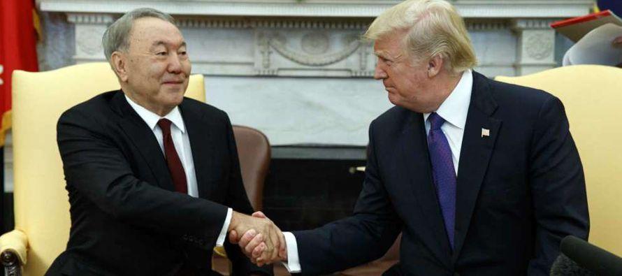 """""""Hoy nuestra alianza estratégica con Kazajistán ha avanzado"""", dijo Trump en..."""