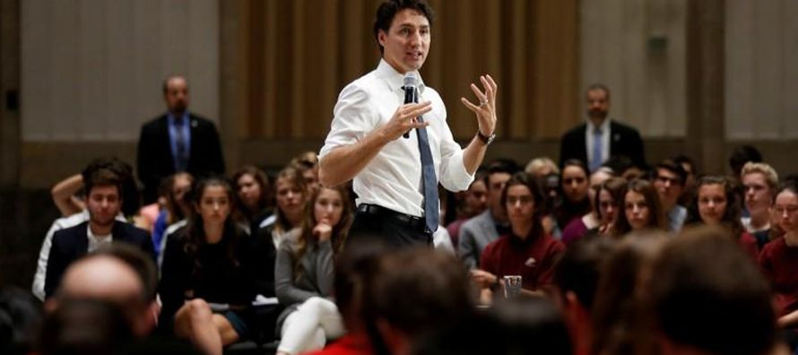 La oficina de Trudeau dijo que el primer ministro visitará Chicago, San Francisco y Los...