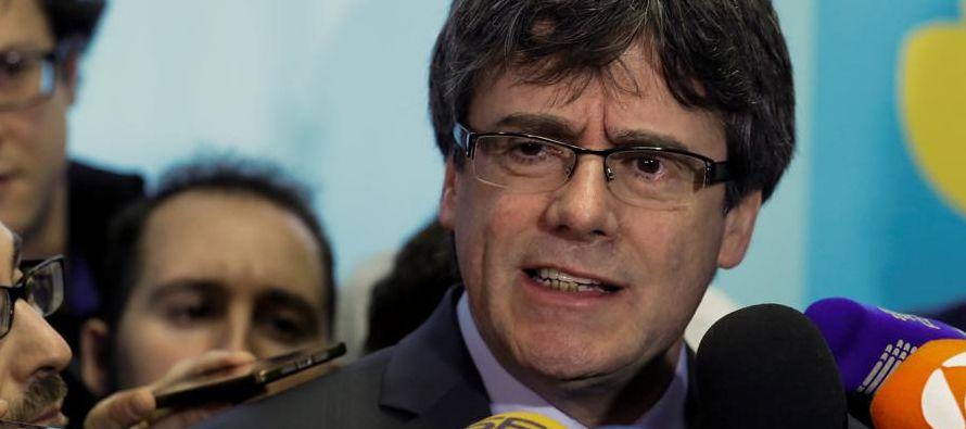 El presidente del Parlamento catalán, Roger Torrent, propuso que Puigdemont sea el candidato...
