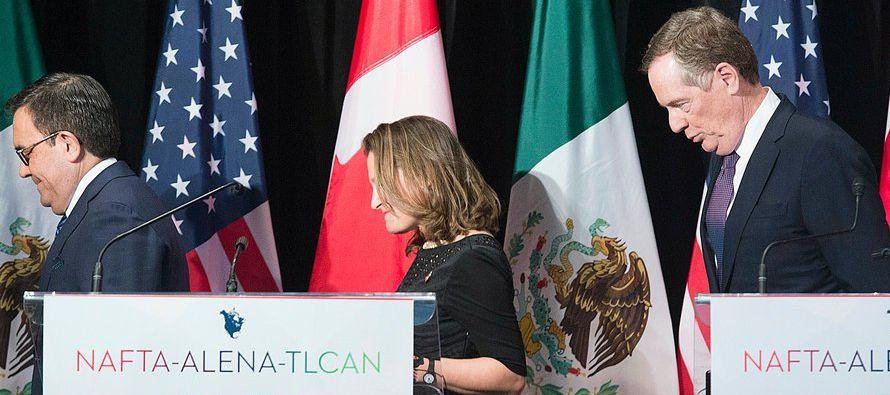 En el último año, Washington ha dicho estar cerca de retirarse del TLCAN varias...