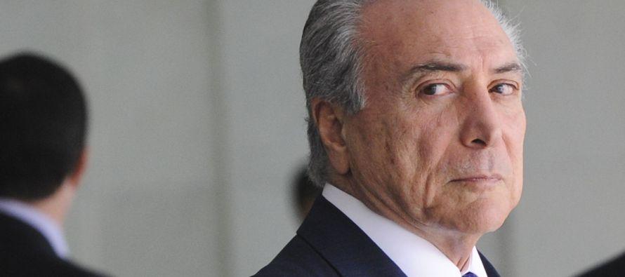 El presidente de Brasil, Michel Temer, afirmó hoy que su Gobierno no está preocupado...