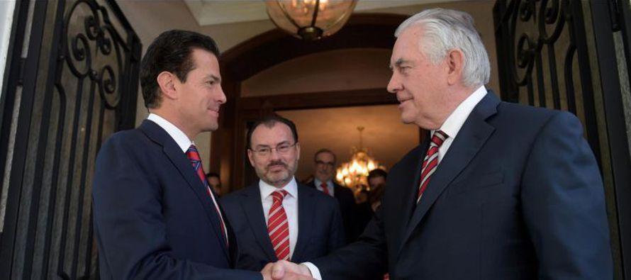 Rex Tillerson aprovechó su visiata a nuestro país para indicar que México...