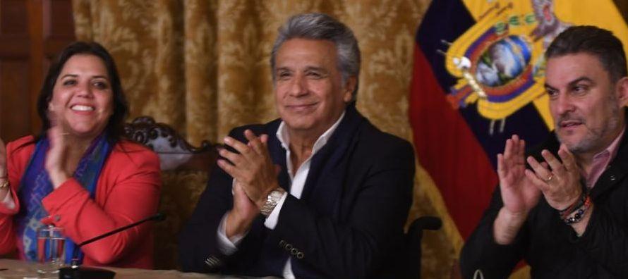En un discurso que ofreció desde el palacio presidencial de Carondelet, en Quito, Moreno se...