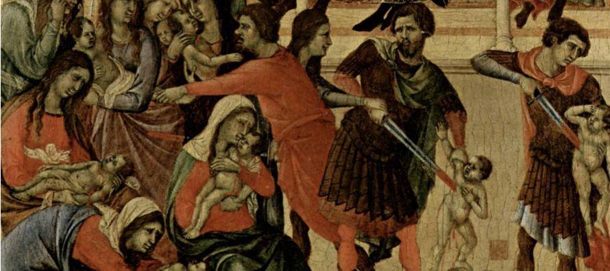 Después de la visita de los Reyes Magos, se precipitó contra el Niño...