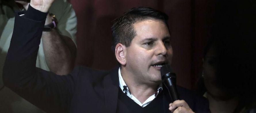 Fabricio Alvarado, cantante de música cristiana, obtuvo el mayor porcentaje de votos en la...