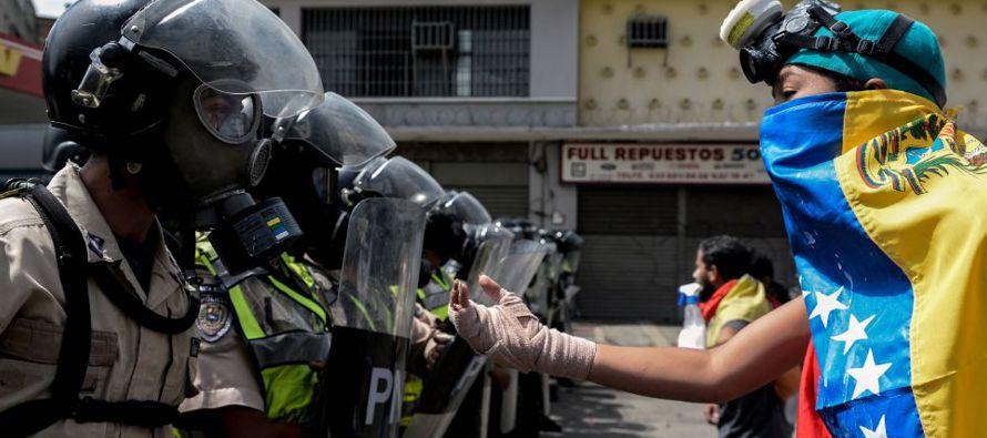 Caracas asegura que las protestas se registraron en menos del diez por ciento del territorio...
