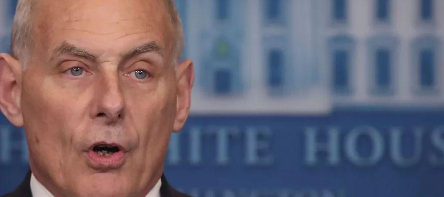 El jefe de gabinete de la Casa Blanca, John Kelly, perdió esta semana parte de la impecable...