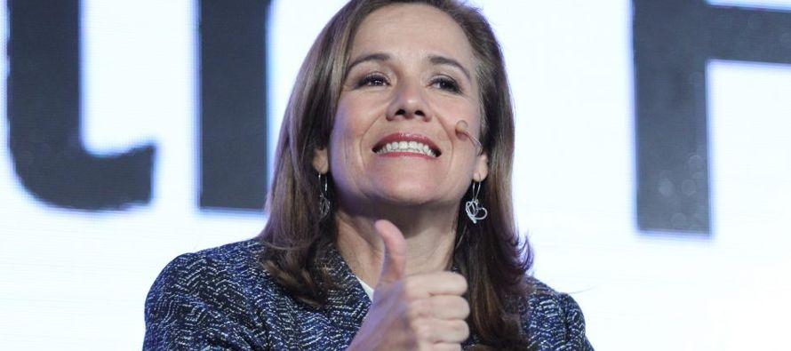 Margarita Zavala, aspirante a candidata independiente por la Presidencia de México,...