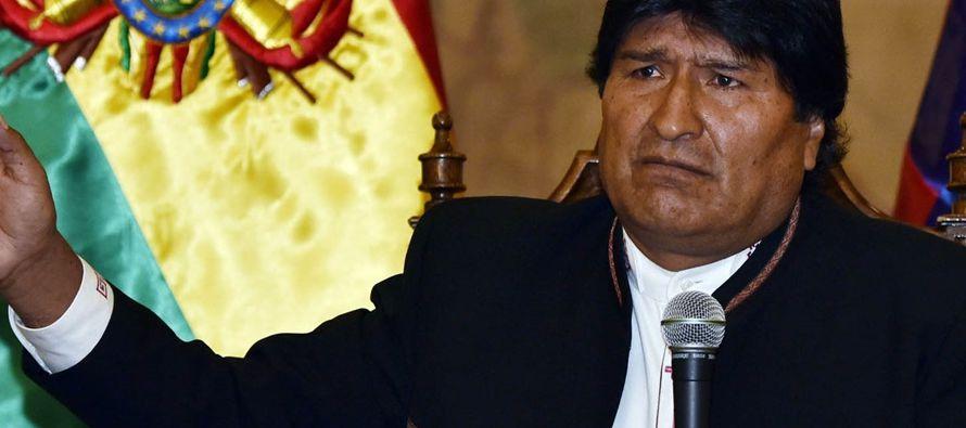 """Morales advirtió ayer de que """"Suramérica tiene la obligación de defender..."""