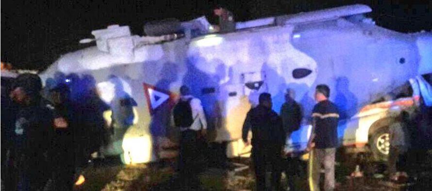 El accidente ocurrió cuando faltaban unos 30 o 40 metros para aterrizar en Pinotepa Nacional...
