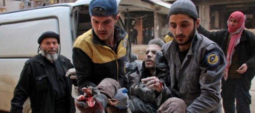 """""""El Gobierno sirio, con el respaldo de Rusia, está atacando de forma intencionada a su..."""