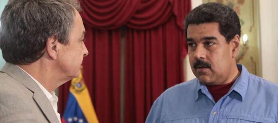 """El expresidente Zapatero calificó de """"inesperada"""" la negativa de la..."""