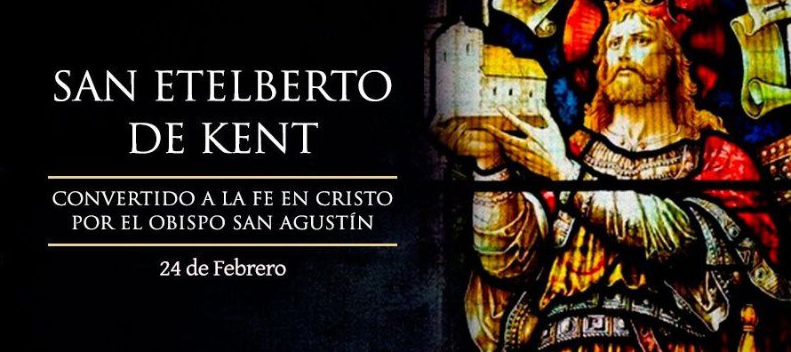 Eteleberto, rey de Kent, se casó con una princesa cristiana llamada Berta, que era la hija...