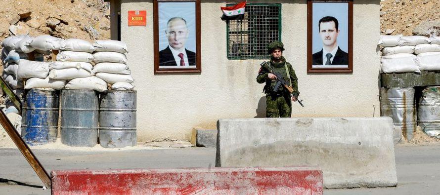 En estos suburbios de la capital siria tuvieron lugar algunas de las primeras manifestaciones...