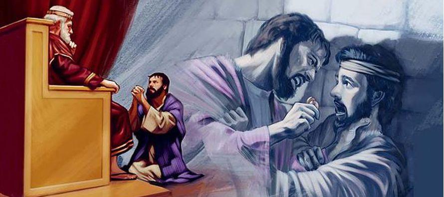 «Entonces el siervo se echó a sus pies, y postrado le decía: Ten paciencia...