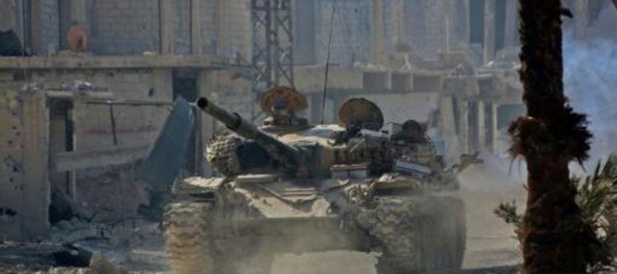 El ejército ruso, que interviene en Siria en apoyo del régimen de Bashar al Asad,...