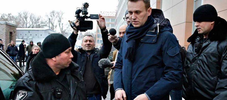 Navalni reacciona con prontitud a la sospecha de que sus investigaciones cuentan con la ayuda de...