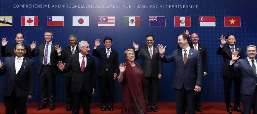 El acuerdo se conoce como TPP11 y es el fruto de las negociaciones de esos once países...