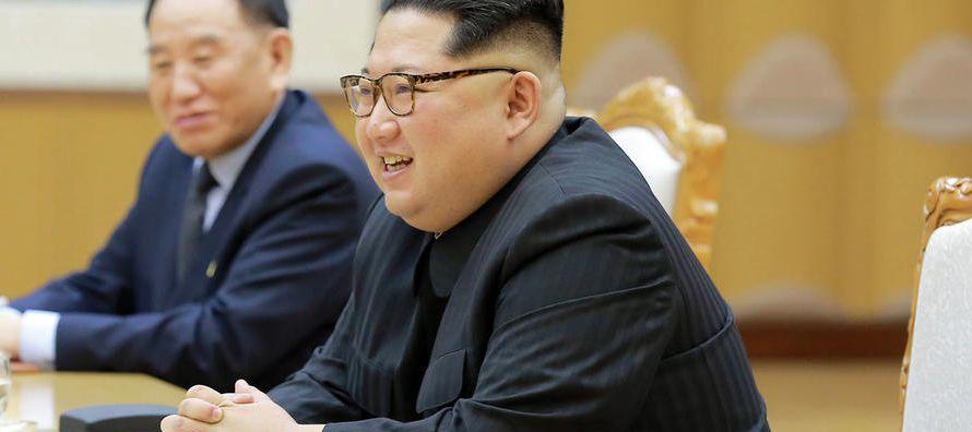 """En el tono """"distendido y cordial"""" en el que se celebró la cena, Kim alabó..."""