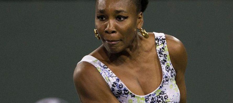 Venus Williams dominó la primera manga con gran claridad, adjudicándose el set...