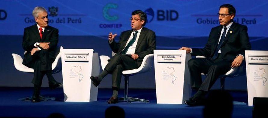 El mandatario chileno, Sebastián Piñera, recordó que en la primera Cumbre de...