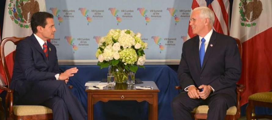 Pence dejó entrever que su encuentro en Lima con Peña Nieto fue tenso, después...