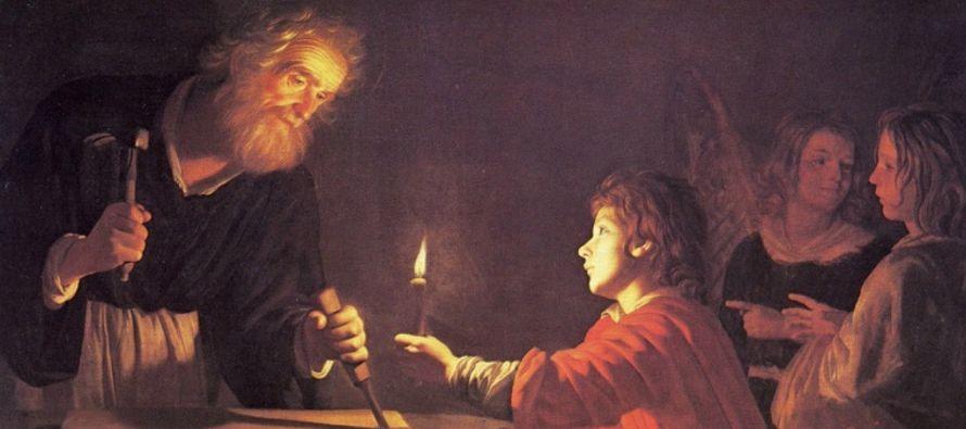 """""""Cuando todo estaba listo para la sepultura, el Divino Hijo que José educara, tomado de..."""