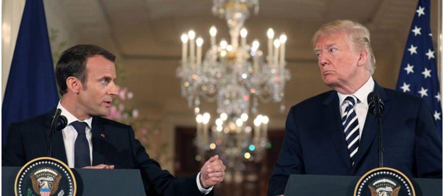 Barril cae por comentarios de Trump y Macron sobre acuerdo nuclear Irán