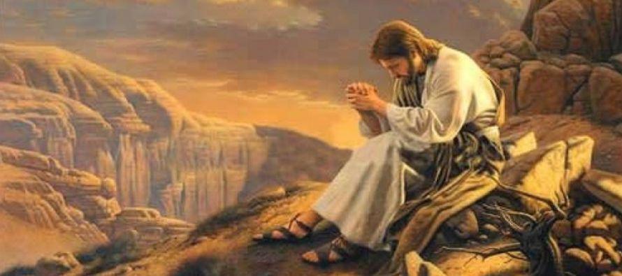 """Afirma Santo Tomás de Aquino que Cristo se retiró al deserto, """"como a un campo..."""