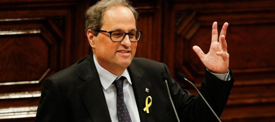 Quim Torra, abogado, de 55 años, fue investido en remplazo de Carles Puigdemont, el...