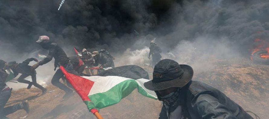 La cifra de palestinos fallecidos es la más alta para un solo día desde el conflicto...