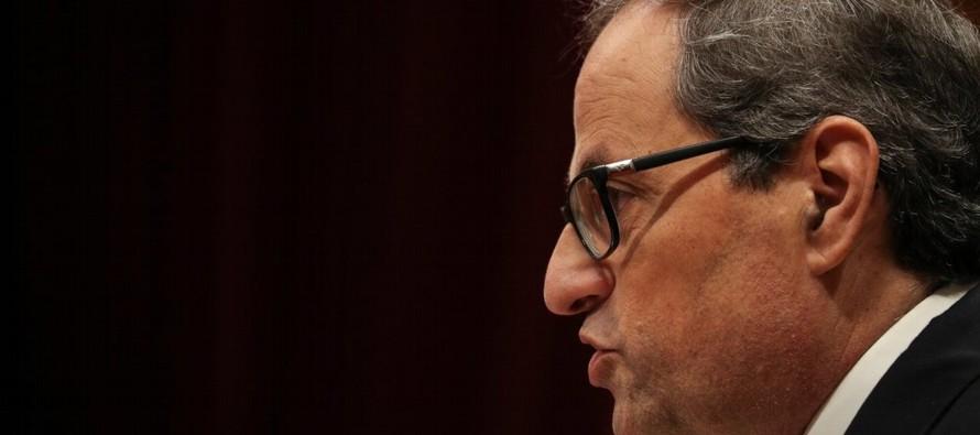 Torra ha seguido hablando de una Cataluña unanimista: un solo pueblo. El presidente ha...