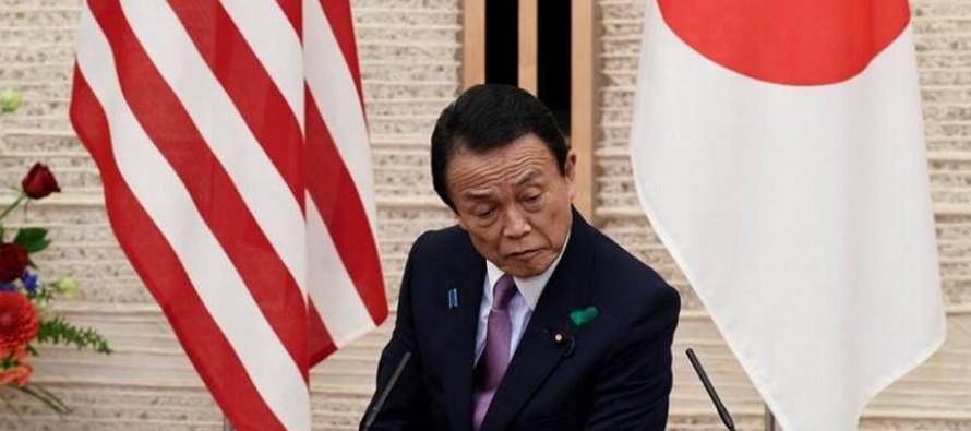 La broma del viceprimer ministro japonés tuvo lugar el mismo día en que Corea del...