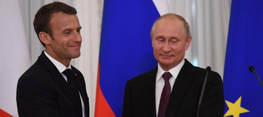 Francia quiere ser líder en inversiones directas en Rusia: Macron