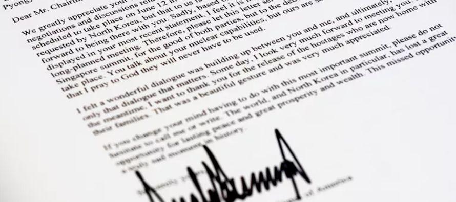 Eso queda de manifiesto en la carta. La razón oficial de la cancelación de la cumbre...