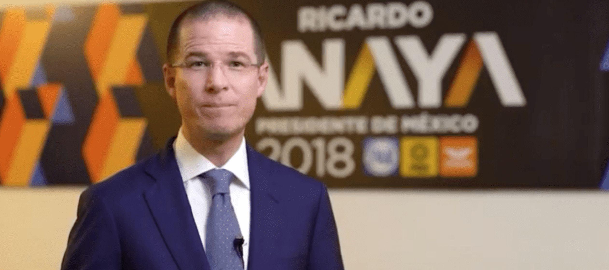 """Anaya dijo que se trata de una """"estrategia orquestada e impulsada por el gobierno de Enrique..."""
