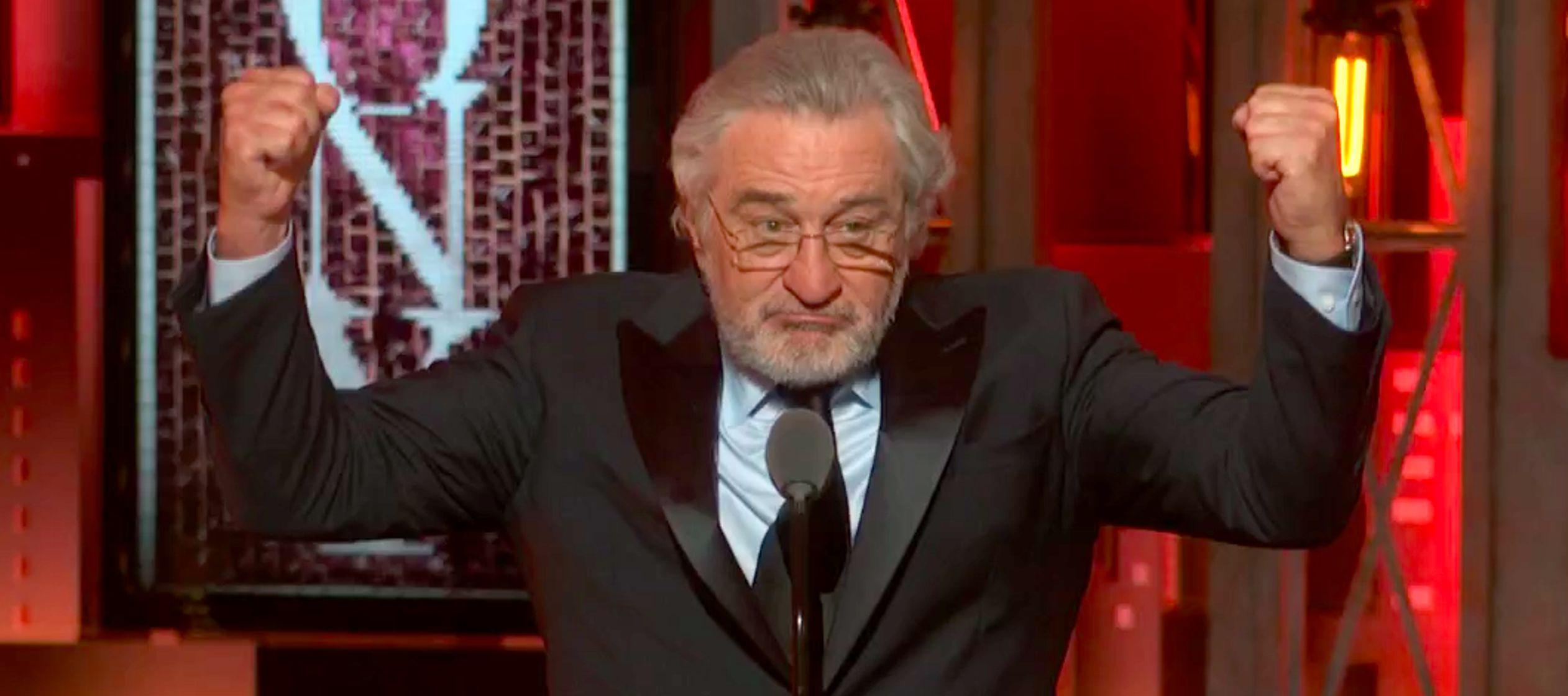 Es la segunda vez en pocas horas que De Niro decide expresar de forma pública su descontento...