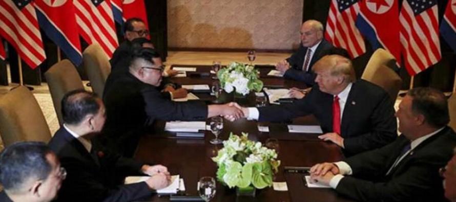 """Resultado de imagen para Trump dice que todo va """"muy bien"""" en su reunión con Kim"""