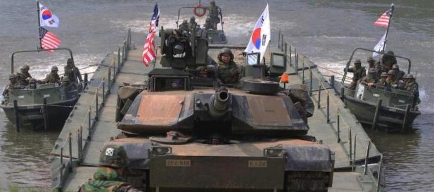 """""""Las maniobras entre Corea del Sur, Estados Unidos y el grueso de las tropas estadounidenses..."""
