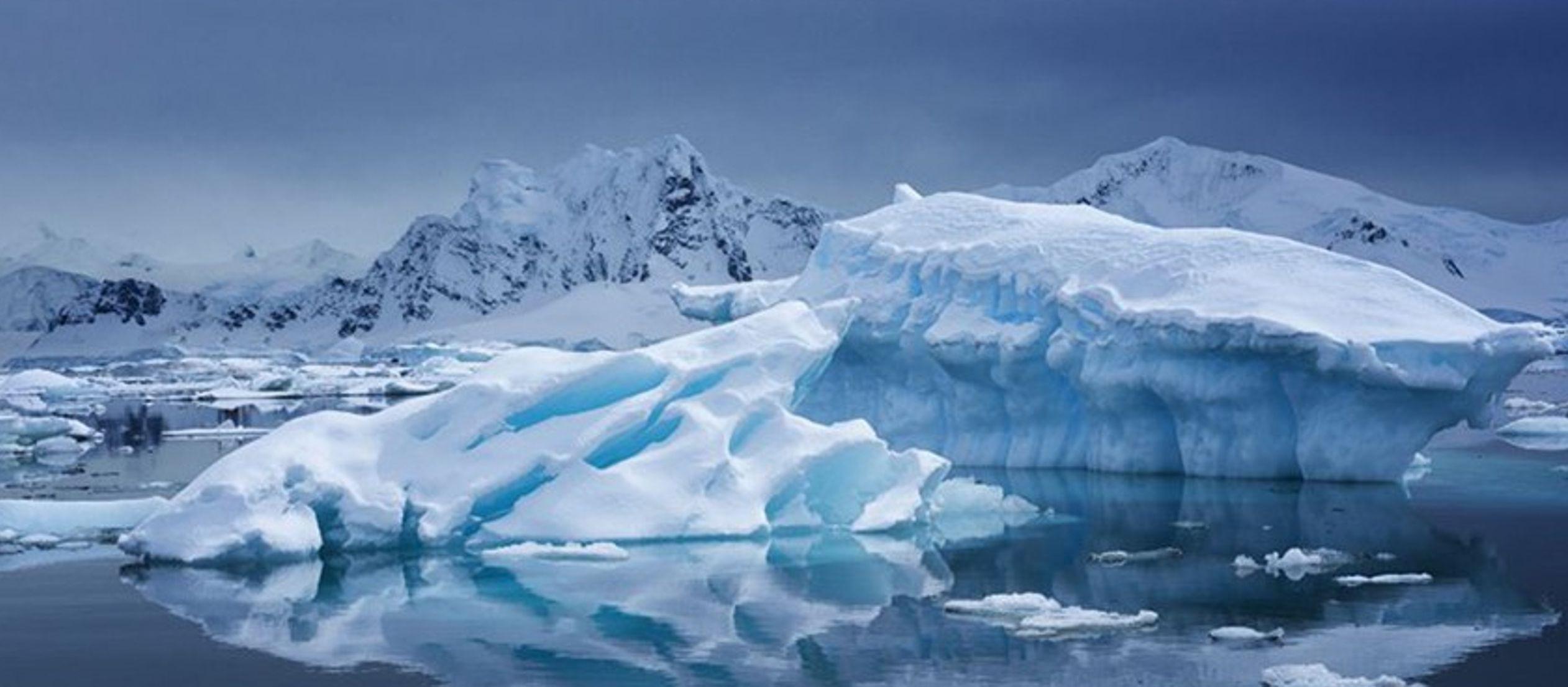 Parte de la Antártida occidental, donde se produjo la mayor parte del derretimiento,...