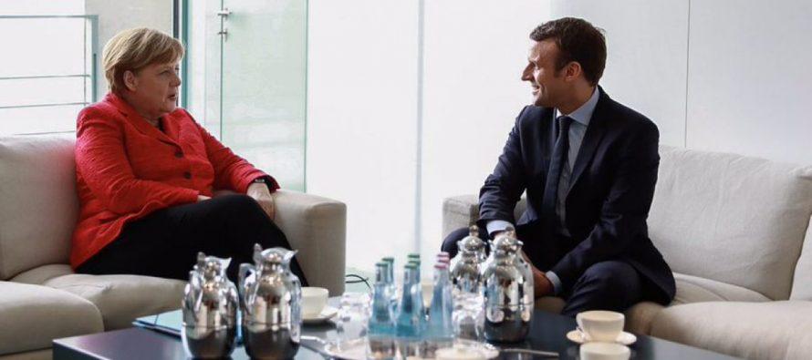 La canciller alemana, Angela Merkel, apostó hoy por contribuir con respuestas francoalemanas...